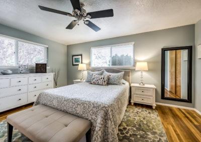 Master bedroom in Boise Bench home